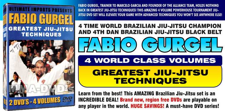 Fabio Gurgel Greatest Jiu-Jitsu Techniques DVD Instructional Series